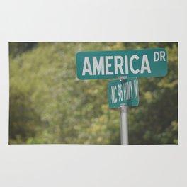 America sign Rug