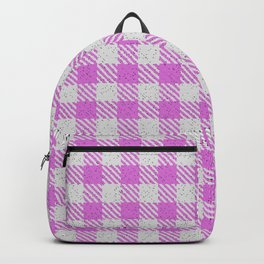 Orchid Buffalo Plaid Backpack