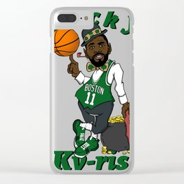 "Kyrie "" Uncle Drew ""Irving Boston Clear iPhone Case"