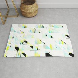 black&neon / triangle Rug