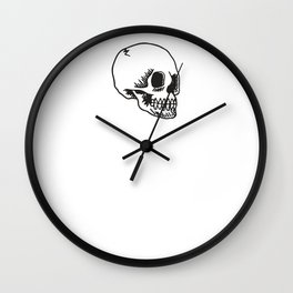 Cracked Skull Wall Clock
