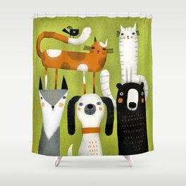 EXTENDED FAMILY PORTRAIT Shower Curtain