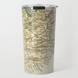 Vintage and Retro Map of Southern Ireland Travel Mug