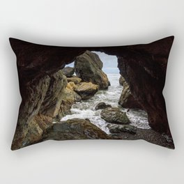 Ruby Beach Sea Cave Rectangular Pillow