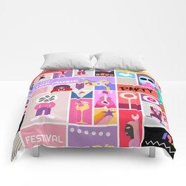 Rock Concert Poster Comforters