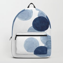 Indigo Ombre Circles Backpack