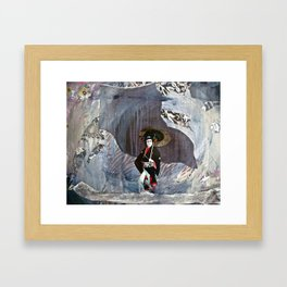 Out of the Cave, Into the Storm, the Hero Prepares for the Next Battle Framed Art Print