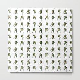 Ninja Turtle Pattern Metal Print