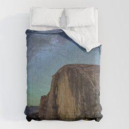 Yosemite USA Stars Milky Way Crag Nature Sky park Scenery Rock Cliff Parks landscape photography Comforters