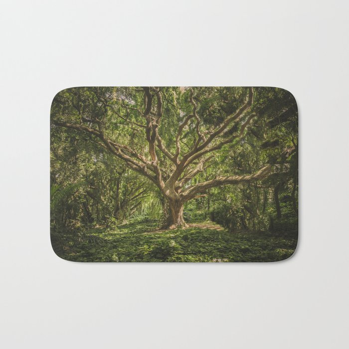 Spirits inside the wood Bath Mat