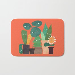 The plants are watching (paranoidos maximucho) Bath Mat