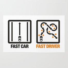 Fast Car - Fast Driver v1 HQvector Rug