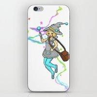 magical girl iPhone & iPod Skins featuring Magical Girl by CombatantCucumbers