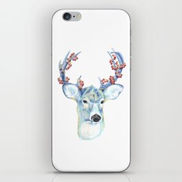 Christmas Deer - Forest animals series iPhone Skin