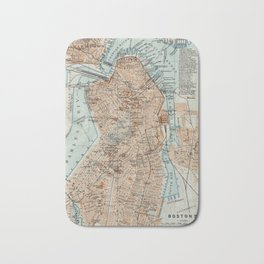 Vintage Map of Boston MA (1906) 2 Bath Mat