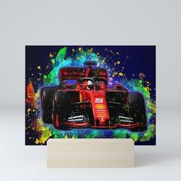 Sebastian Vettel car Mini Art Print