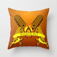 WHACK BAT Throw Pillow