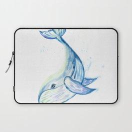 Cute whale watercolor Laptop Sleeve