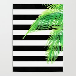 Simply Tropical Stripes Poster