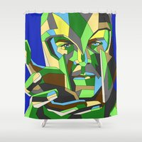 magneto Shower Curtains featuring Magneto by Liam Brazier