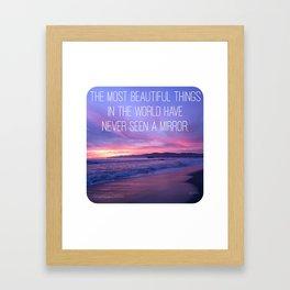 NEVER SEEN A MIRROR Framed Art Print
