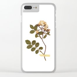 Vintage wild rose and washi tape Clear iPhone Case