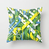 brazil Throw Pillows featuring Brazil by Roberlan Borges