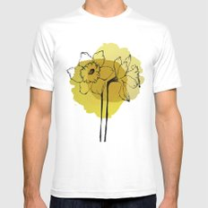 daffodils White MEDIUM Mens Fitted Tee