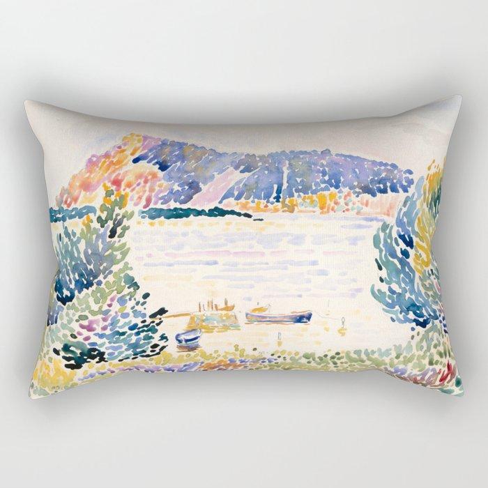 """Henri-Edmond Cross """"Cap Nègre"""" Rectangular Pillow"""