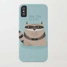 Sneaky Raccoon iPhone X Slim Case