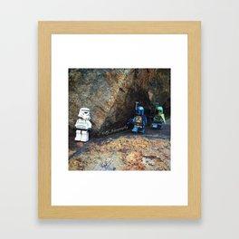 Storm Trooper Trapped - Bounty Hunter Framed Art Print