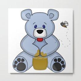 Hunny Bear Metal Print