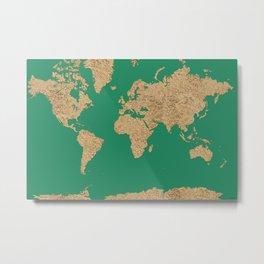 Sand balls - Organic World Map Series Metal Print