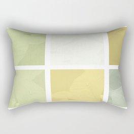 Pale Yellow Poinsettia 1 Abstract Rectangles 1 Rectangular Pillow