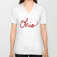 ohio V-neck T-shirts featuring Ohio by Alisha Williams