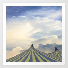 Turrets in the Clouds Art Print