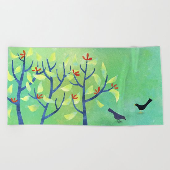 April Beach Towel