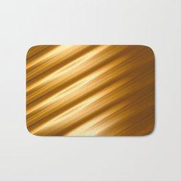 Abstract background blur motion golden hair strings Bath Mat