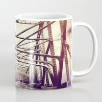 bridge Mugs featuring Bridge by Elektrikk