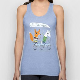 Junicorn and Fausto Fox Biking Tee Unisex Tank Top