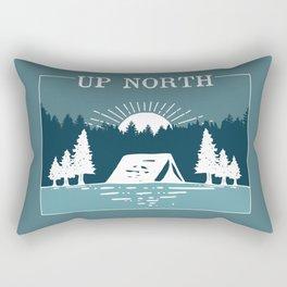 UP NORTH, camping Rectangular Pillow