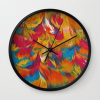 psychedelic Wall Clocks featuring Psychedelic by DuckyB