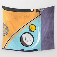 car Wall Tapestries featuring car  by mark ashkenazi