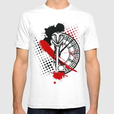 Timekeeper White SMALL Mens Fitted Tee