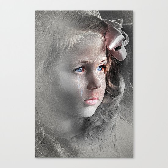 Girl with Bow Canvas Print