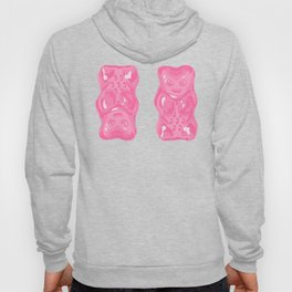 Jelly Beans & Gummy Bears Pattern - Pink and Black Hoody