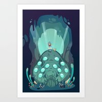 nausicaa Art Prints featuring Nausicaa of the Valley of the Wind by Zaley