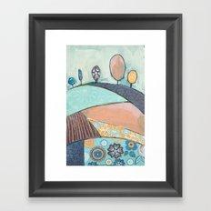 Jelly Bean Trees In A Field Framed Art Print