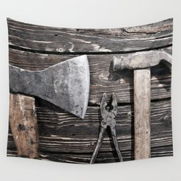 Old rusty tools Wall Tapestry