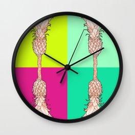 Pineapple - Ananas Arising Popcolors Wall Clock